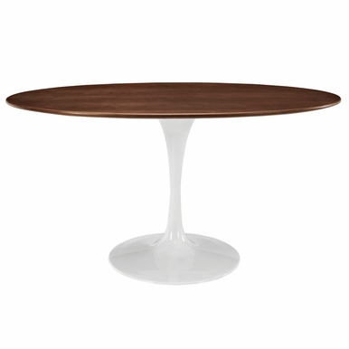 "Modway - Lippa 60"" Oval-Shaped Dining Table in Walnut - EEI-1138-WAL"