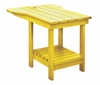 CR Plastic Products - Generations Tete A Tete Table in Yellow - A12-04
