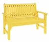 CR Plastic Products - Generations Garden Bench in Yellow - B01-04