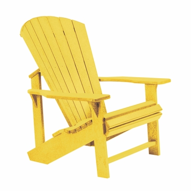 CR Plastic Products - Generations Adirondack Chair in Yellow - C01-04