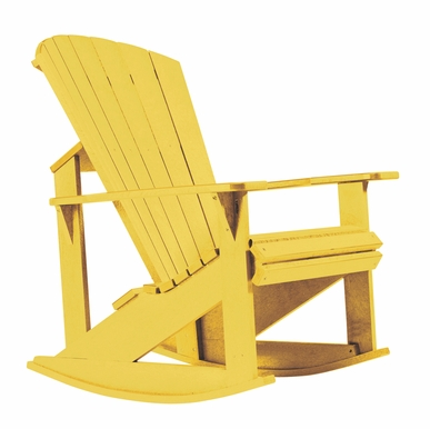 CR Plastic Products - Generations Adirondack Rocking Chair in Yellow - C04-04