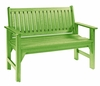 CR Plastic Products - Generations Garden Bench in Kiwi Lime - B01-17