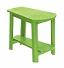 CR Plastic Products - Generations Tapered Style Accent Table in Kiwi Lime - T04-17