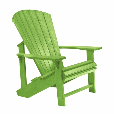 CR Plastic Products - Generations Adirondack Chair in Kiwi Lime - C01-17