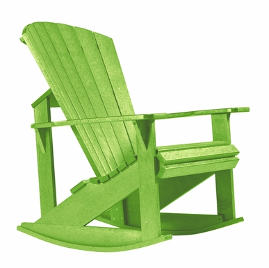 CR Plastic Products - Generations Adirondack Rocking Chair in Kiwi Lime - C04-17