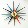 Mod Made - Star Wall Clock In Multi Color - MM-CL-08