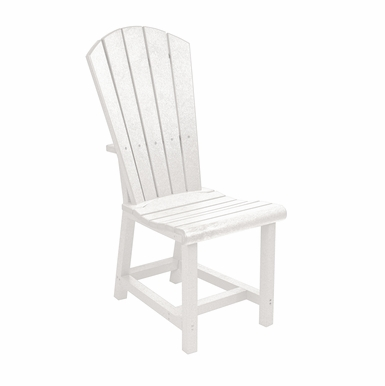CR Plastic Products - Generations Dining Adirondack Style Side Chair in White - C11-02
