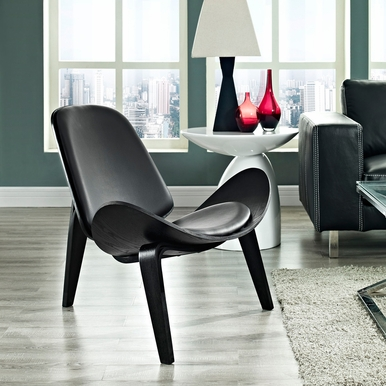 Modway - Arch Lounge Chair in Black Black - EEI-1050-BLK-BLK