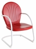 Crosley Furniture - Griffith Metal Chair in Red Finish  - CO1001A-RE
