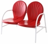 Crosley Furniture - Griffith Metal Loveseat in Red Finish  - CO1002A-RE