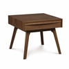 "Copeland Furniture - Catalina End Table 17"" (Nightstand) In Natural Walnut - 2-CAL-15-04"