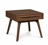 "Copeland Furniture - Catalina End Table 20"" (Nightstand) In Natural Walnut - 2-CAL-25-04"