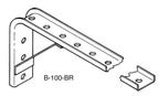 B-100-BR13B    Galv Angle Bracket W/ Gusset - 7-1/2 Inches x 20-1/4 Inches from Web