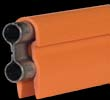22147   90 Amp Bar W/ High Heat (Dark Orange) Cover - 10 Ft