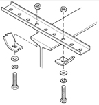 B-100-BR10A    Galv Straight Bracket W/ Mounting Clips - 16 Holes, 24 Inches