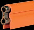 11005    250 Amp Stainless Clad Copper Bar - Orange Cover - 5 Ft
