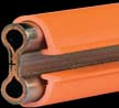 11244    250 Amp Red Bar - Stainless Clad Copper - 5 Ft