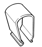 B-100-2L      Spring Cover Clip For Lateral Mount Systems