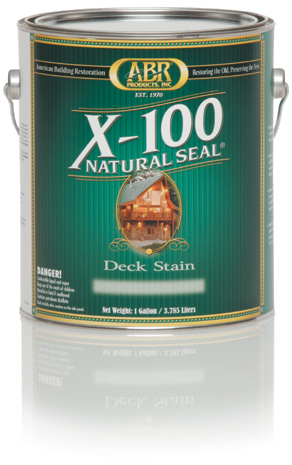 X-100 Natural Seal Deck Stain - 1 Gallon