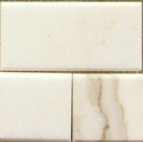 "(Sample) 2 Pieces Calacatta Gold Italian Marble 3x6"" Subway Tile Honed"