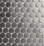 """(SAMPLE) Penny Round Metal Mosaic Stainless Steel Tile (3/4"""" Size)"""