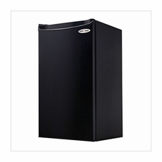 Danby 3.2SM4RA One Plug Single-Door Refrigerator, 3.2 Cubic Foot Capacity, Energy Star Rated, Reversible Door, 2 and 1/2 Shelves, Cycle defrost, Tall Bottle Storage in Black