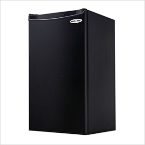 Danby 3.3SM4R One Plug Single-Door Refrigerator, 3.3 Cubic Foot Capacity, Energy Star Rated, Reversible Door, 2 and 1/2 Shelves, Cycle defrost, Tall Bottle Storage in Black