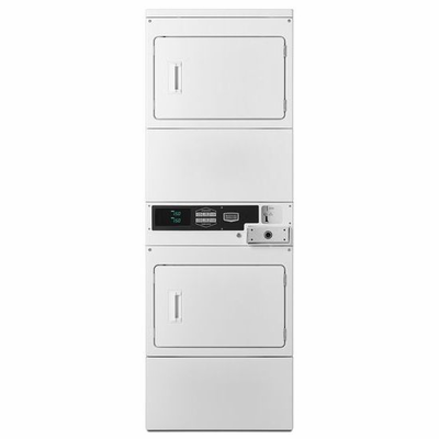 Maytag MLG26PDBWW Commercial Stacked Gas Dryers w/Solid Doors, Coin Drop Included, Super Capacity, 120V/60Hz/15A, Usually Built to Order, If Built 4-Week Lead Time