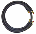 """JMF LS1412FF50W Ductless Mini Split Line Set, 1/4"""" x 1/2"""" x 50' Long with Flare Fittings and 14-4 600V Wire"""