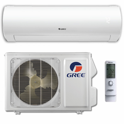 GREE Sapphire SAP18HP230V1A Ductless Mini Split w/Inverter Heat Pump, 18,000 BTU, SEER 24.5, 230/208 Volt, -22 Degrees Capability, Single Zone Includes Indoor Wall Unit with Remote and Outdoor Condenser, Line Sets and Accessories Sold Separately