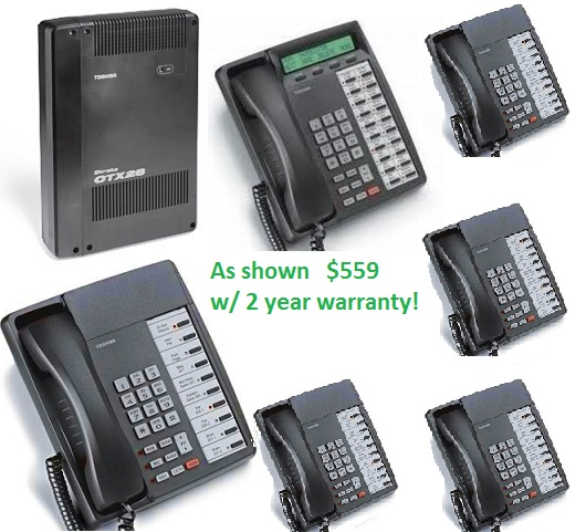 Toshiba Ctx28 Complete Phone System With One Dkt3020sd And Five Dkt3010s Phones