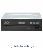 ASUS Blu-ray Reader, CD/DVD Burner, OEM, Black Bezel BC-12B1ST
