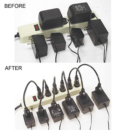 Battery operated power strip