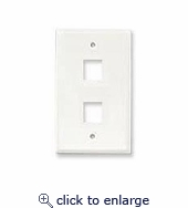 Faceplate For 2 Hole, White