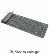 Flexible Mini Keyboard USB W/ PS2 Adapter