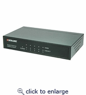 Intellinet 5 Port Gigabit Switch Metal Chassis