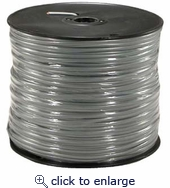1000Ft 4 Conductor Silver Satin Modular Cable