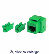 CAT5e 8p8c Keystone Panel Jack Green