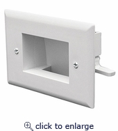 Easy Mount Recessed Low Voltage Cable Plate Kit