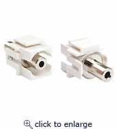 3.5mm Keystone Insert White