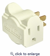 Hug-a-plug Dual Outlet Wall Adapter Ivory