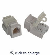 RJ11/12 (Cat.3) ToolLess Keystone Jack