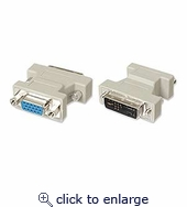 Dvi Male Analog To Hd15 Female Adapter