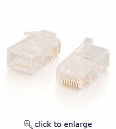 RJ11 4x4 Modular Plug for Flat Stranded Cable