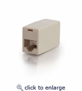 RJ12 6-pin Modular Straight-Through Inline Coupler