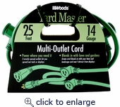 Multi Outlet Cord 14/3 25 Ft