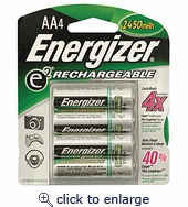 Energizer Rechargeable AA Batteries 2300mah 4pk