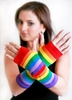 G006-Rainbow Stripe Mitts