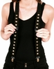 B011-Black Silver Studded Suspenders