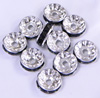 Black Crystal Spacers Finding 10mm 100pcs